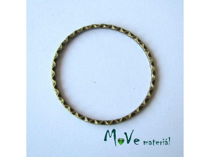 Kovový kroužek 44,5x2mm, 1ks, staromosaz