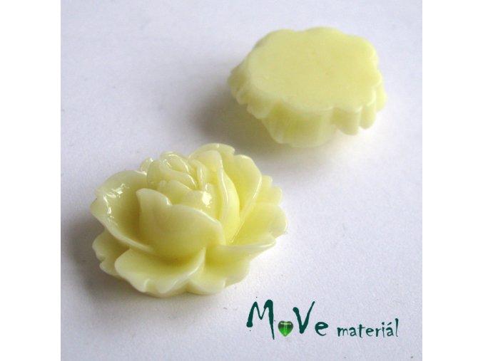 Kabošon lesklý C2 - resin - 2ks, vanilkový