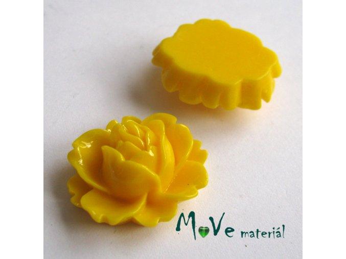Kabošon lesklý C2 - resin - 2ks, žlutý