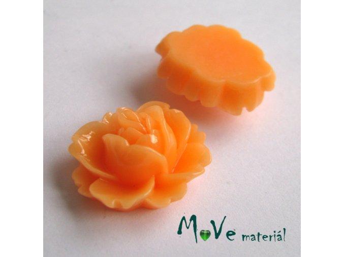 Kabošon lesklý C2 - resin - 2ks, meruňkový