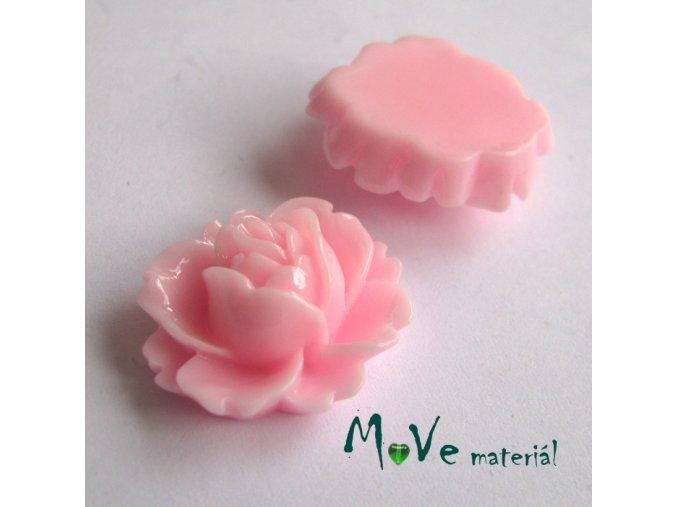 Kabošon lesklý C2 - resin - 2ks, sv. růžový