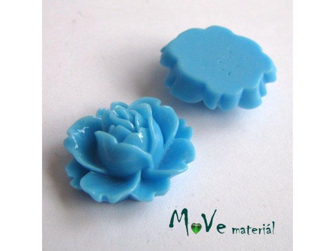 Kabošon lesklý C2 - resin - 2ks, sv. modrý