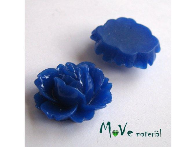 Kabošon lesklý C2 - resin - 2ks, tm. modrý