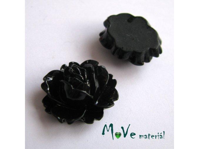 Kabošon lesklý C2 - resin - 2ks, černý