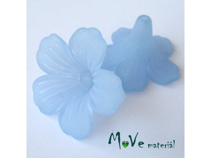 Akrylový květ MAXI 46x27mm, 1ks, sv. modrý