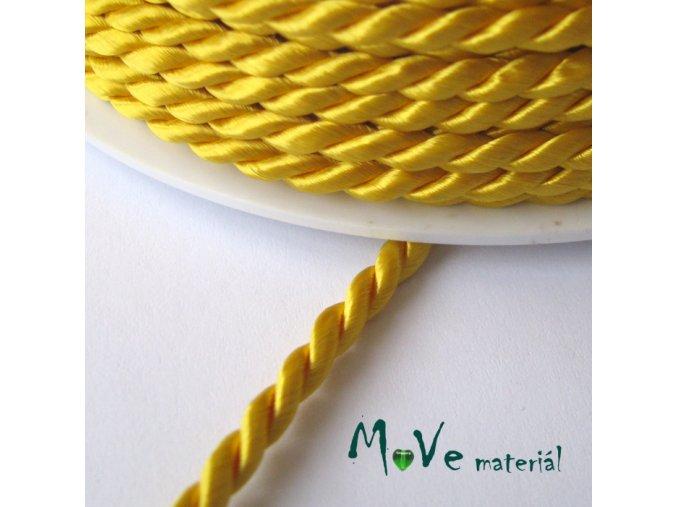 Kroucená šňůra 3,5mm /1m, žlutá