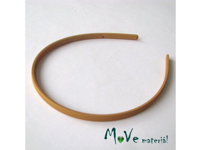 Čelenka jednoduchá plastová béžová, 7mm