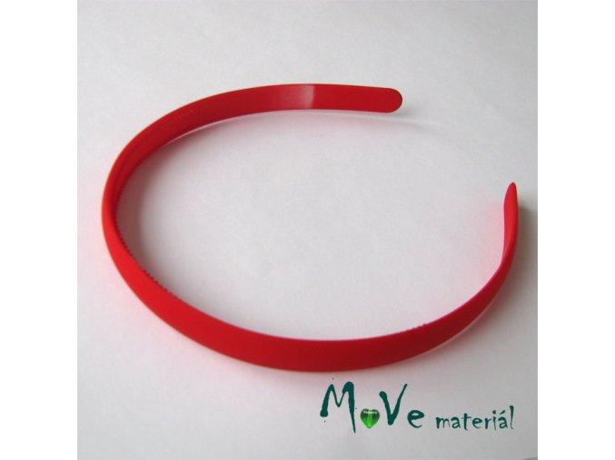 Čelenka jednoduchá plastová červená, 13mm