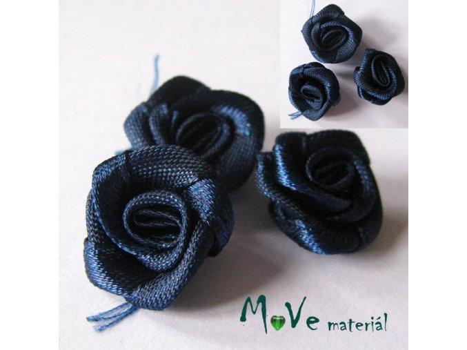 Růžička saténová modrá 20mm, 10kusů