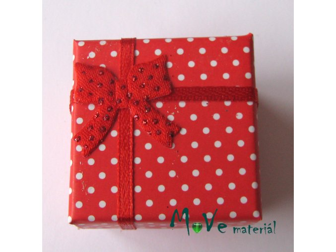 Krabička papírová na prstýnek 40x40x30mm, červená
