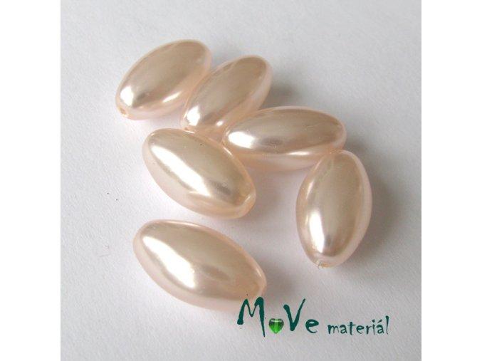 České voskové perle olivka 6ks, růžová