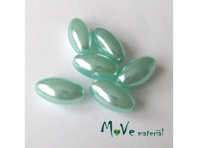 České voskové perle olivka 6ks, tyrkysová