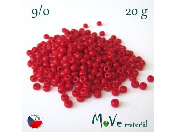 Český rokajl červený 9/0, 20 g