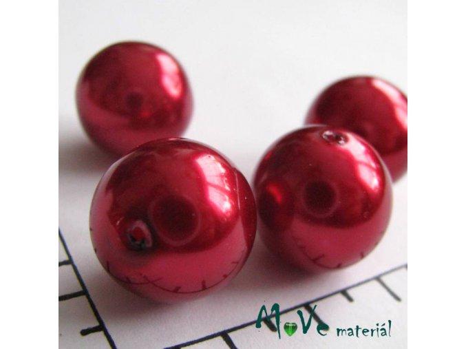 České voskové perle červené 16mm, 4ks