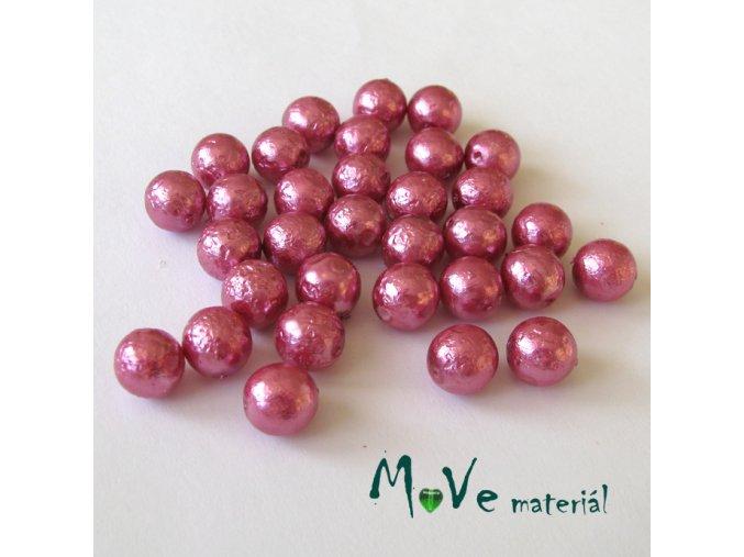 České voskové perle s úpravou 7mm/32ks, růžovofialové