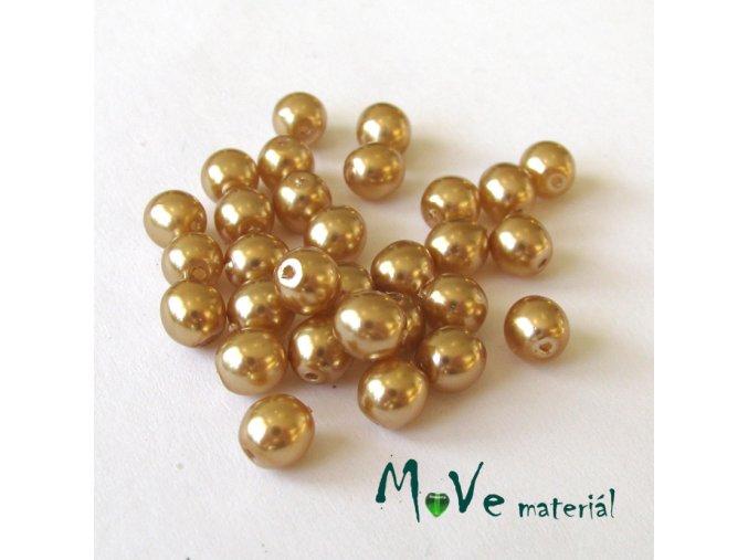České voskové perle 4mm/30ks, zlatobéžové