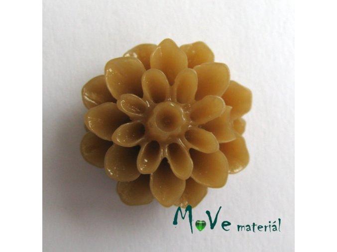 Kabošon květ lesklý resin/6ks/hnědý./II. jakost