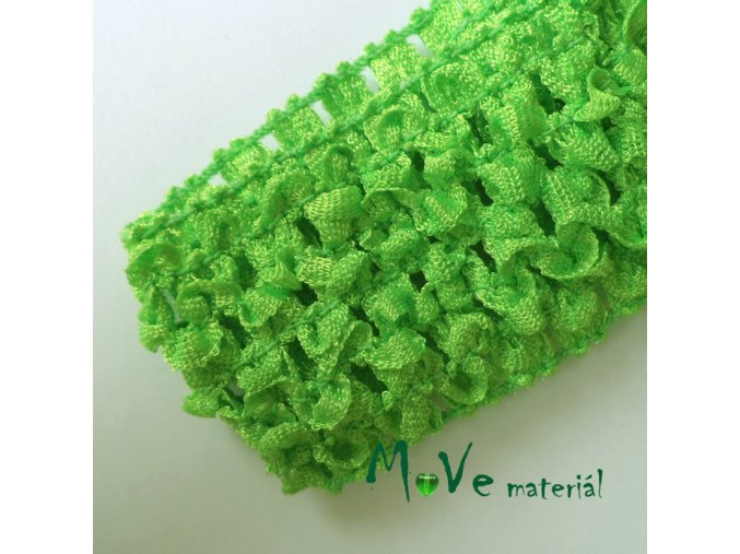 Dětská elastická háčkovaná čelenka, 1kus,sv.zelená