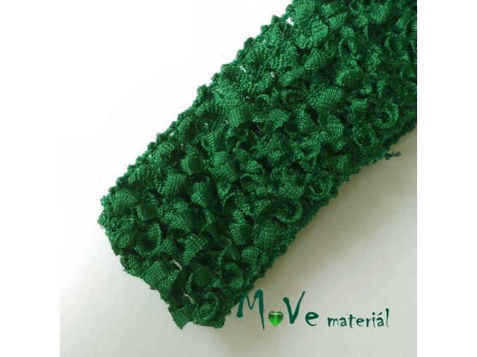 Dětská elastická háčkovaná čelenka, 1kus, zelená