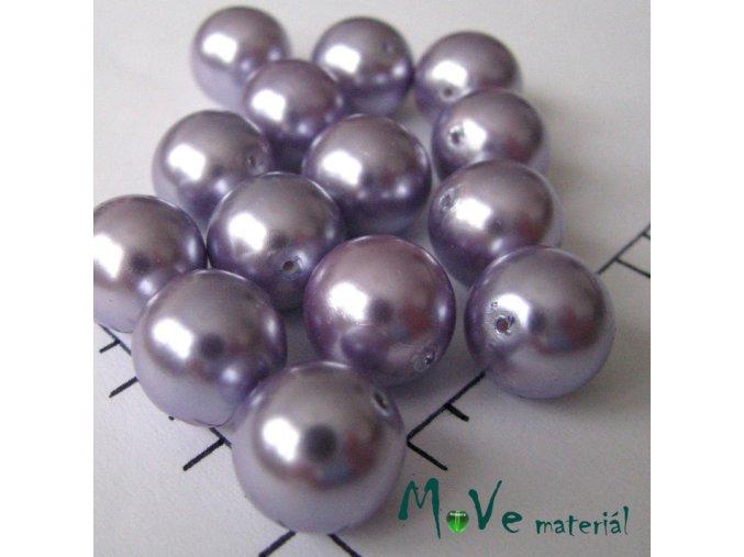 České voskové perle lila 12mm, 8ks