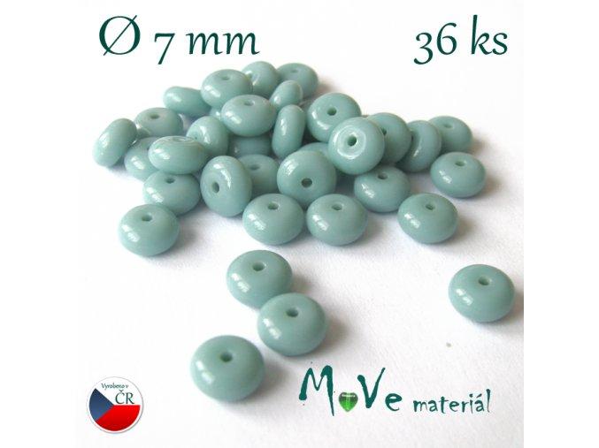 České korálky - disk mátový 7mm 36ks