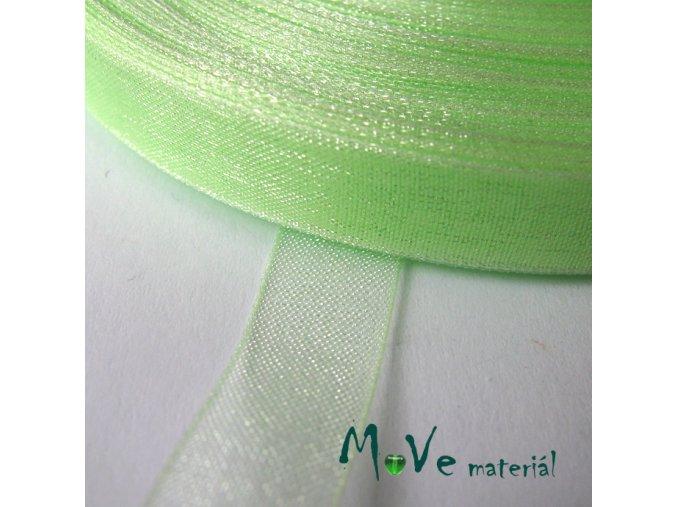 Šifónová stuha 10mm, 1m sv. zelená