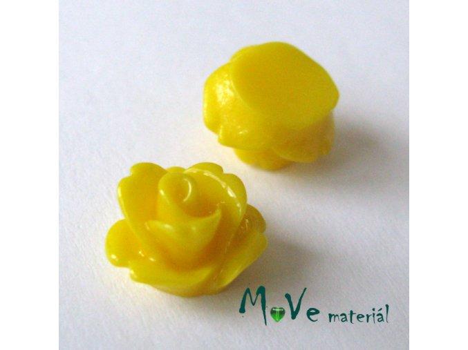 Kabošon květ lesklý C4 - resin - 2ks, žlutý