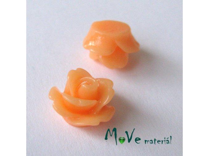 Kabošon květ lesklý C4 - resin - 2ks, meruňkový