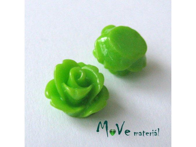 Kabošon květ lesklý C4 - resin - 2ks, zelený