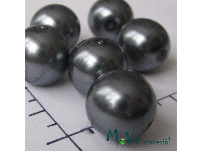 České voskové perle hematit 14mm, 4ks
