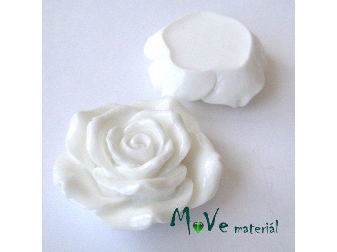 Kabošon lesklý K2 - resin - 1ks, bílý