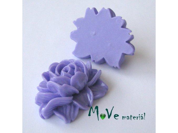 Kabošon lesklý K1 - resin - 1ks, fialový