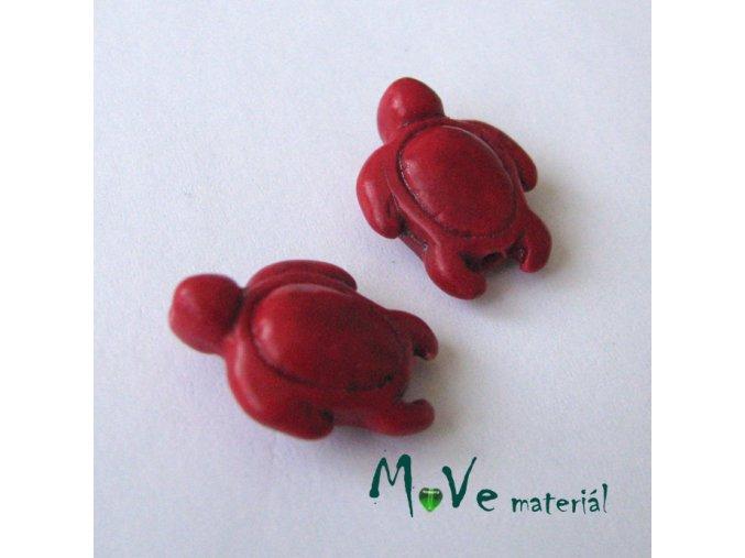 Želva z barveného kamene 15x18mm, 2ks