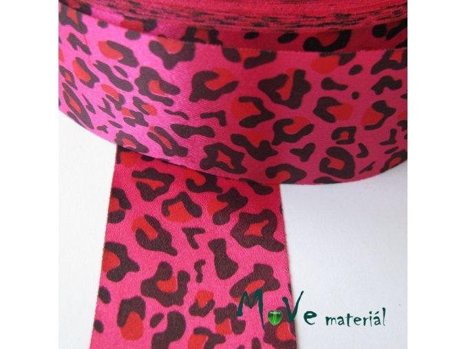 Stuha saténová gepard 40mm 1m, růžová