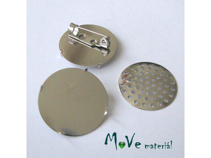 Brožový můstek se sítkem 26mm, platina, 1kus