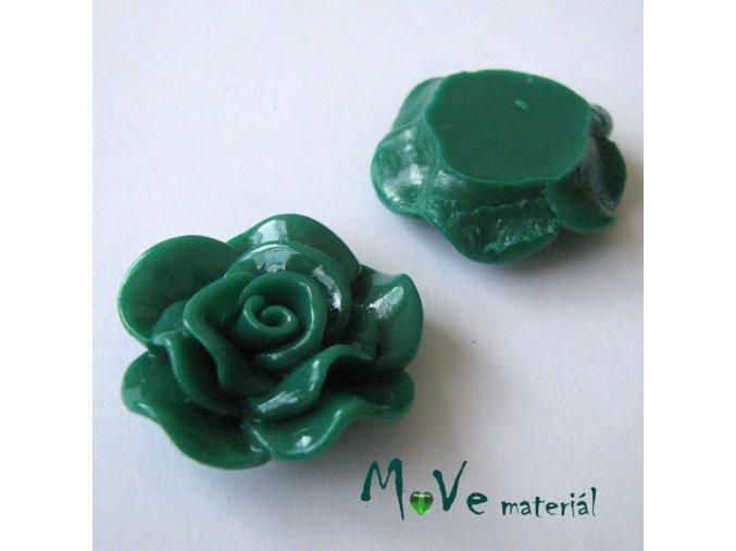 Kabošon květ lesklý B1 - resin - 1ks, zelený