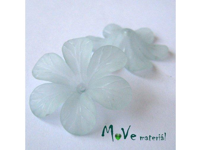 Akrylový květ 30mm, 2ks, vodově tyrkysový