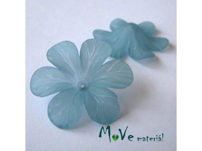 Akrylový květ 30mm, 2ks, světle tyrkysový