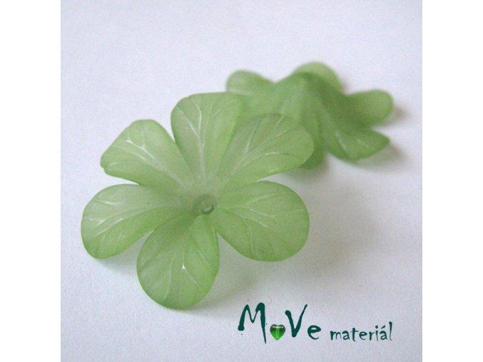 Akrylový květ 30mm, 2ks, světle zelený