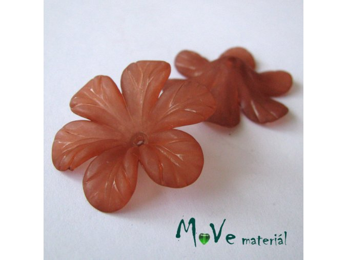 Akrylový květ 30mm, 2ks, rezavý
