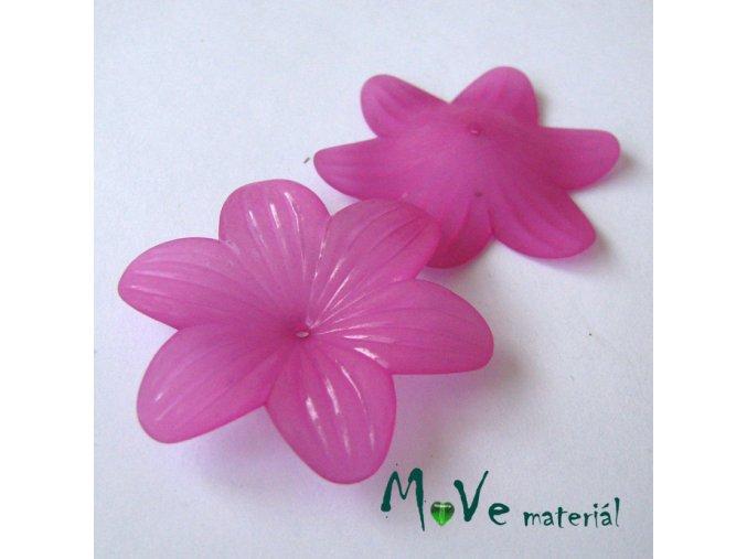 Akrylový květ transp. 42mm, 1ks, růžovofialový