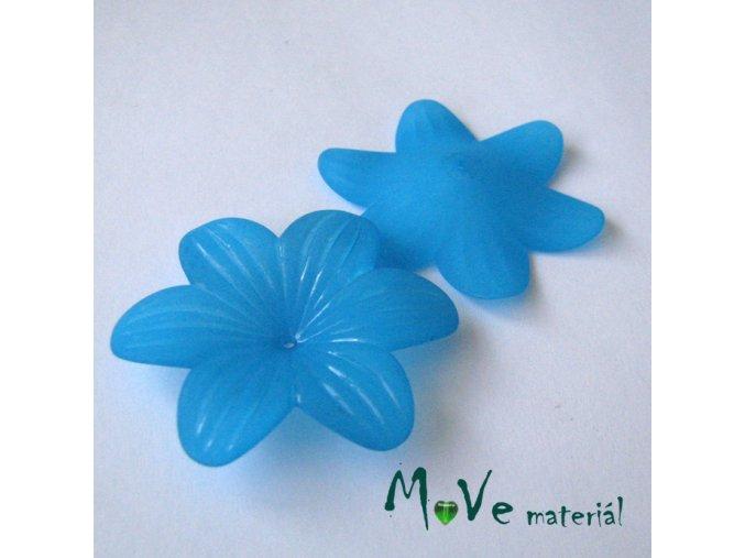 Akrylový květ transp. 42mm, 1ks, tyrkysový