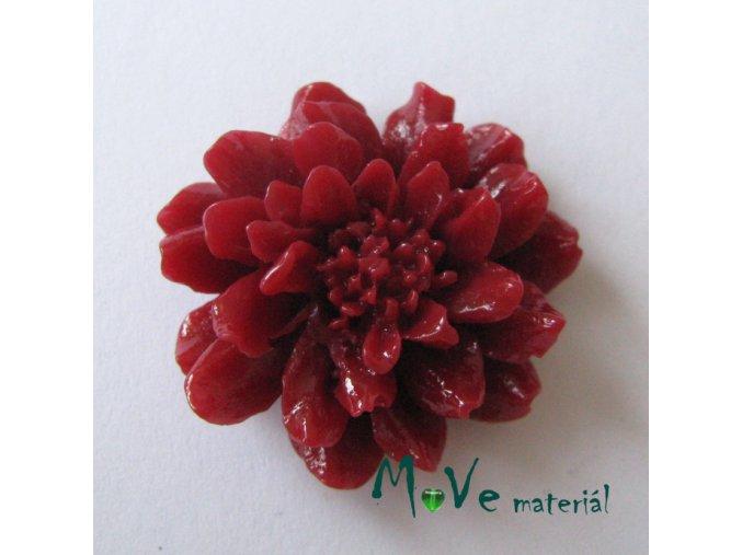 Kabošon květ resin II. jak. 1ks, vínový