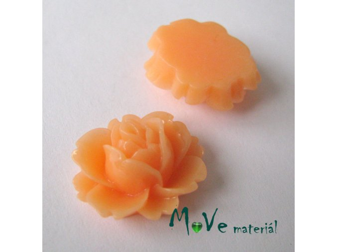 Kabošon lesklý C2 - resin - 2ks, oranžový