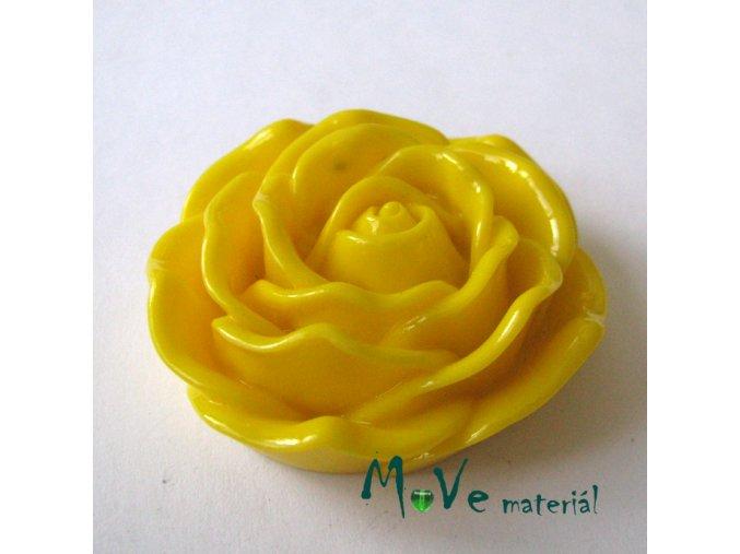 Kabošon lesklý K3 - resin - 1ks, žlutý