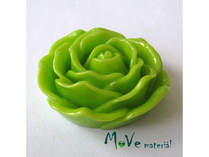 Kabošon lesklý K3 - resin - 1ks, sv. zelený