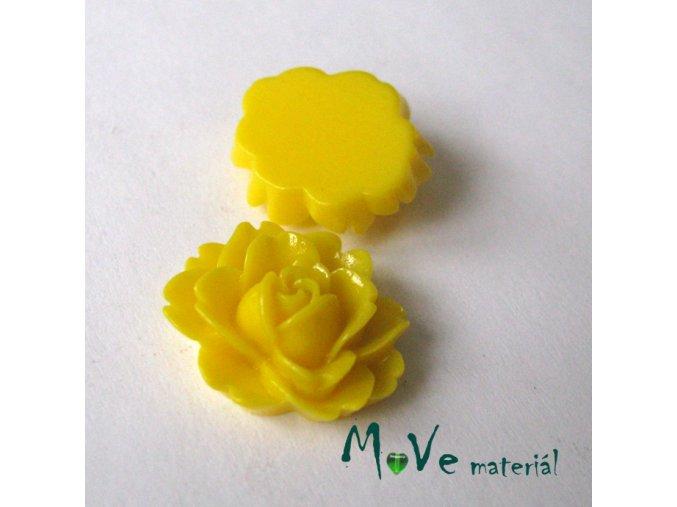 Kabošon lesklý C2a - resin - 2ks, žlutý