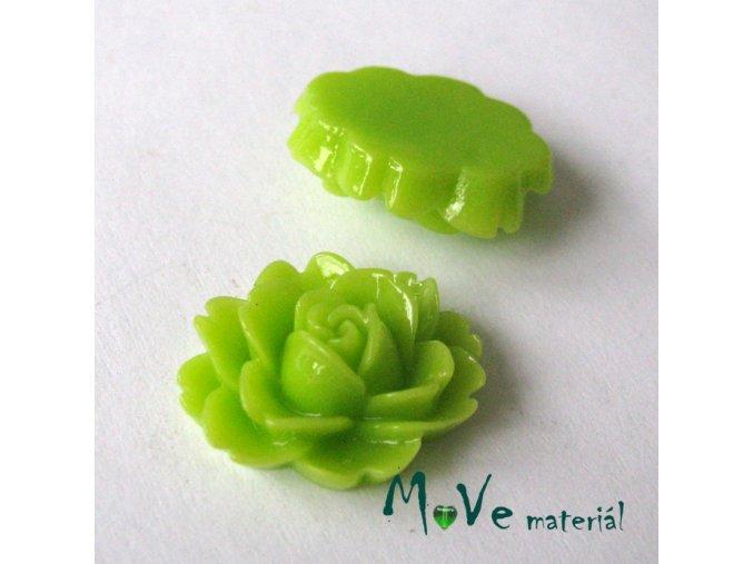 Kabošon lesklý C2a - resin - 2ks, sv. zelený