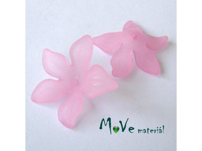Akrylový květ 29x27mm, 2ks, sv. růžový