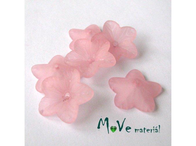 Akrylový květ 18mm, 6ks, sv. růžový